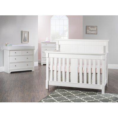 Child Craft Bradford 4 In 1 Convertible 5 Piece Crib Set