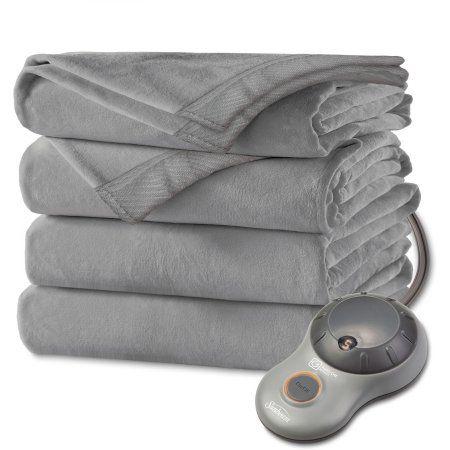 Sunbeam Microplush Electric Blanket 1 Each Walmart Com Electric Throw Blanket Electric Blankets Heated Blanket