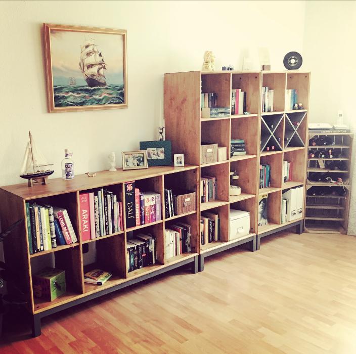 Nornäs Ikea Kiefer Regale Lasur In Teak Living Sideboard