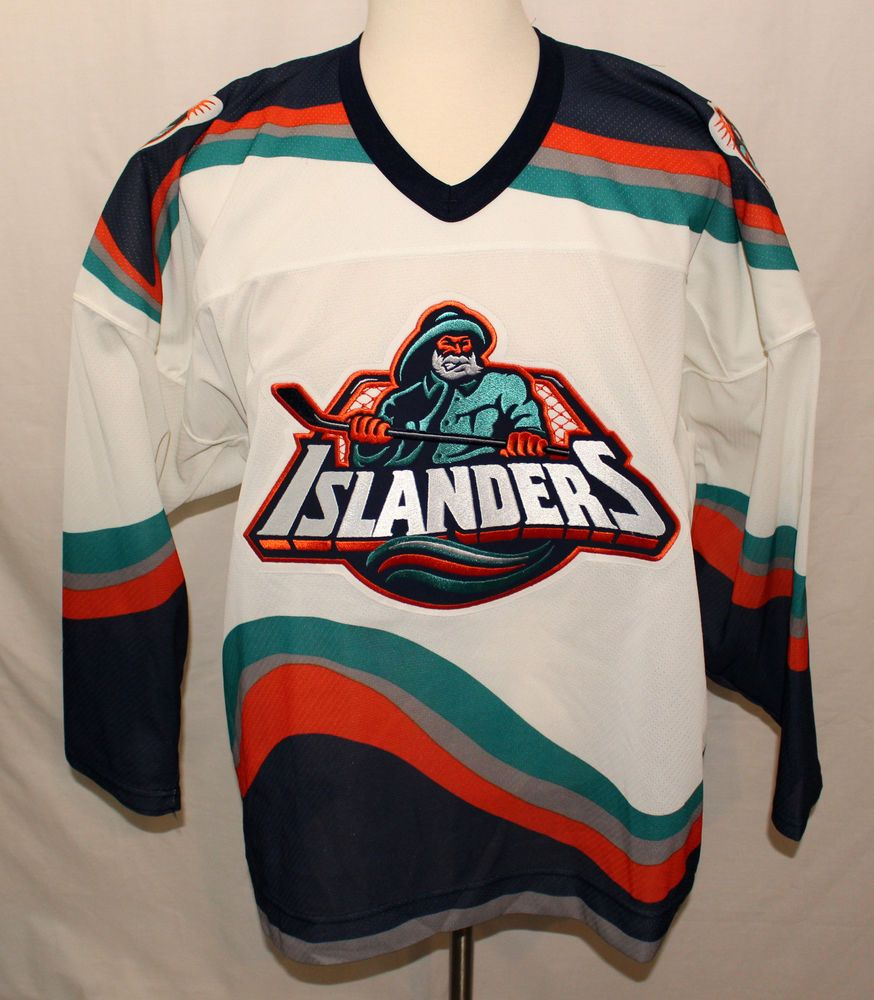 Vintage 1990s Mens Ccm Ny New York Islanders Fisherman Nhl Hockey