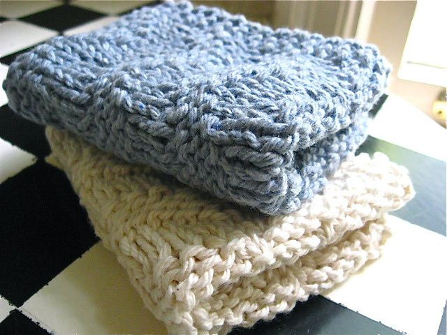 Knitted Washcloth Patterns Knitted Dish Clothes Crocheting Etc