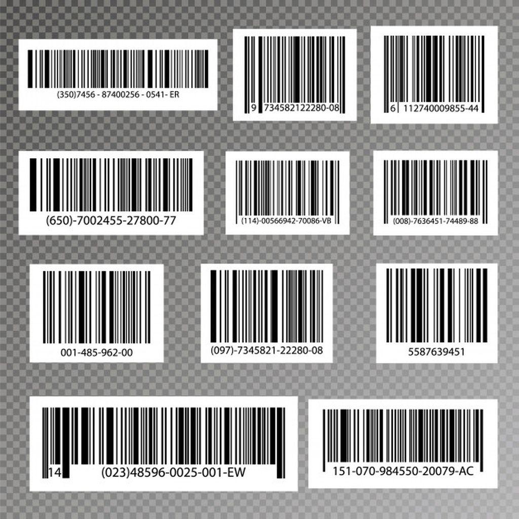 Black striped code for digital identification, realistic