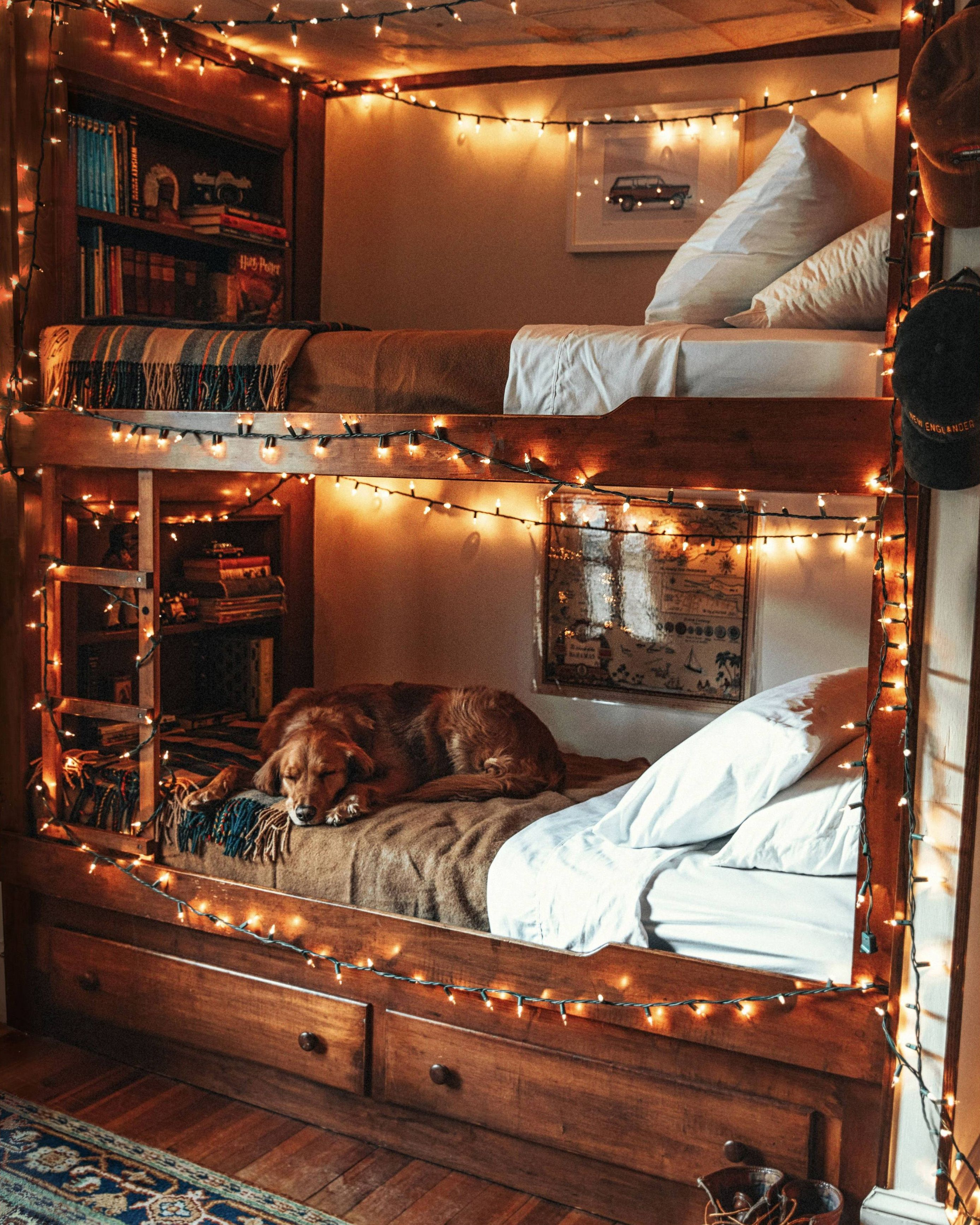 Warm And Cozy Bunk Bed Hippie Bedroom Design Bunk Bed Decor Bedroom Design On A Budget