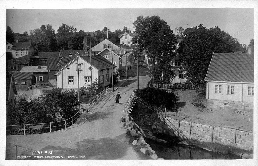 Hølen i Vestby kommune Akershus fylke. Utg. Normann stemplet 1921 Hølen (lokal uttale Hørn) er et tettsted i Vestby kommune i Akershus. Tettstedet har 736[1] innbyggere per 1. januar 2015, og ligger 7,5 kilometer sør for kommunesenteret Vestby. Hølen ble skilt fra Son i 1848 og etablert som egen bykommune med 199 innbyggere. Hølen var Norges minste by frem til innlemmelsen i Vestby kommune i 1943
