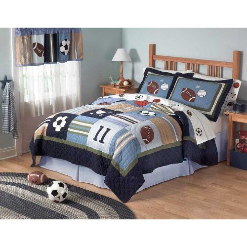Boys Sports Themed Bedroom Bedding For A Sports Themed Boys Bedroom Sports Themed Comforter Boys Sports Bedding Sports Bedding Kids Bedding Sets