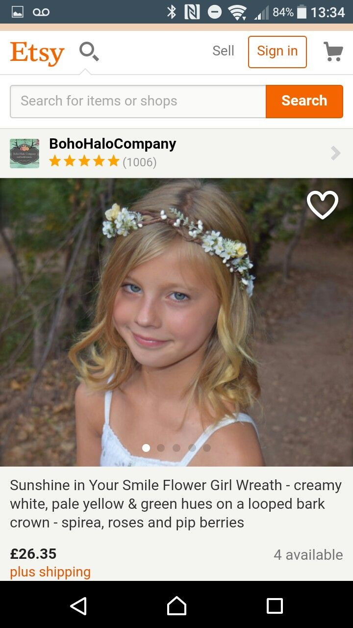 Pin by nikki wing gerek on wedding pinterest ava and wedding sunshine in your smile flower girl wreath creamy white pale yellow green hues on a looped bark crown spirea roses and pip berries izmirmasajfo