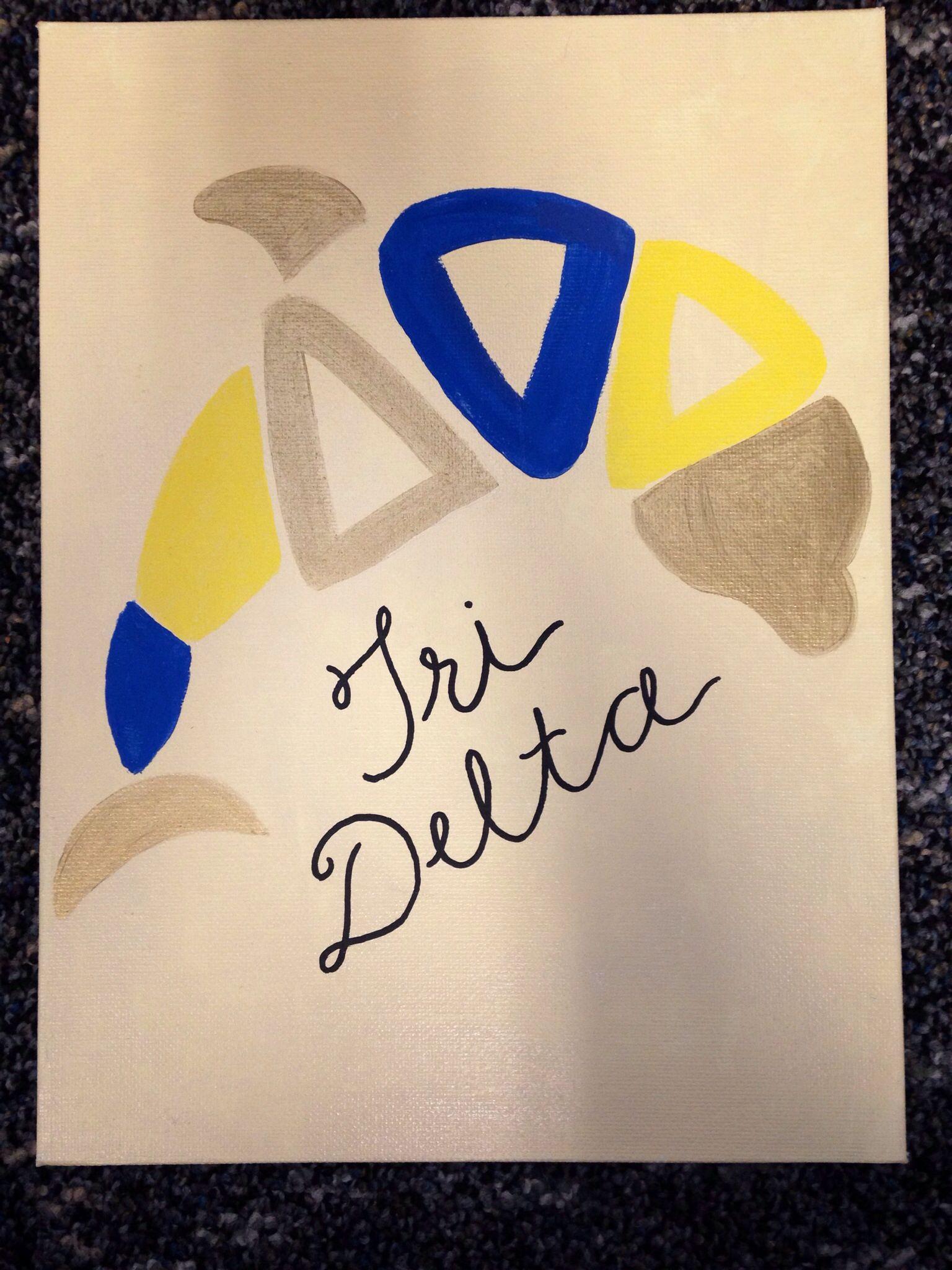 Tridelta dolphin #tridelta #sorority #crafts #deltadeltadelta #biglittle @Hayley Sheldon Swinton