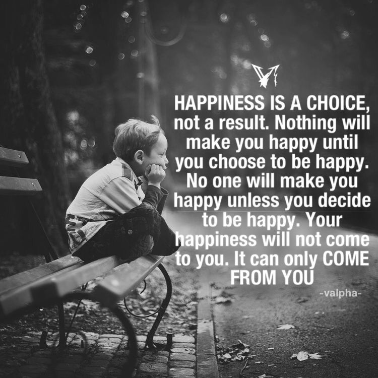 Happiness Is A Choice You Make For Yourself No One Can Give You