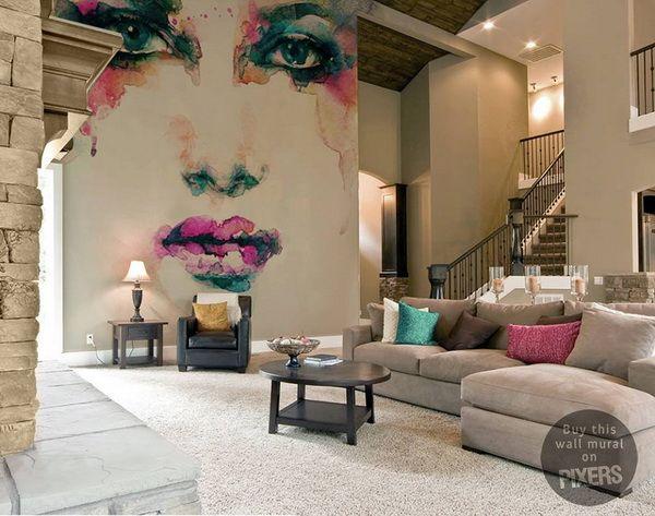 Fotomurales para decorar salones decoraci n de paredes for Decoracion de salones pintura