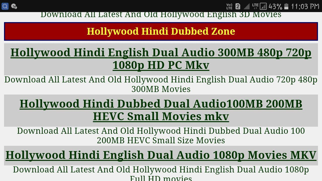 torrent search engine hollywood movies in hindi