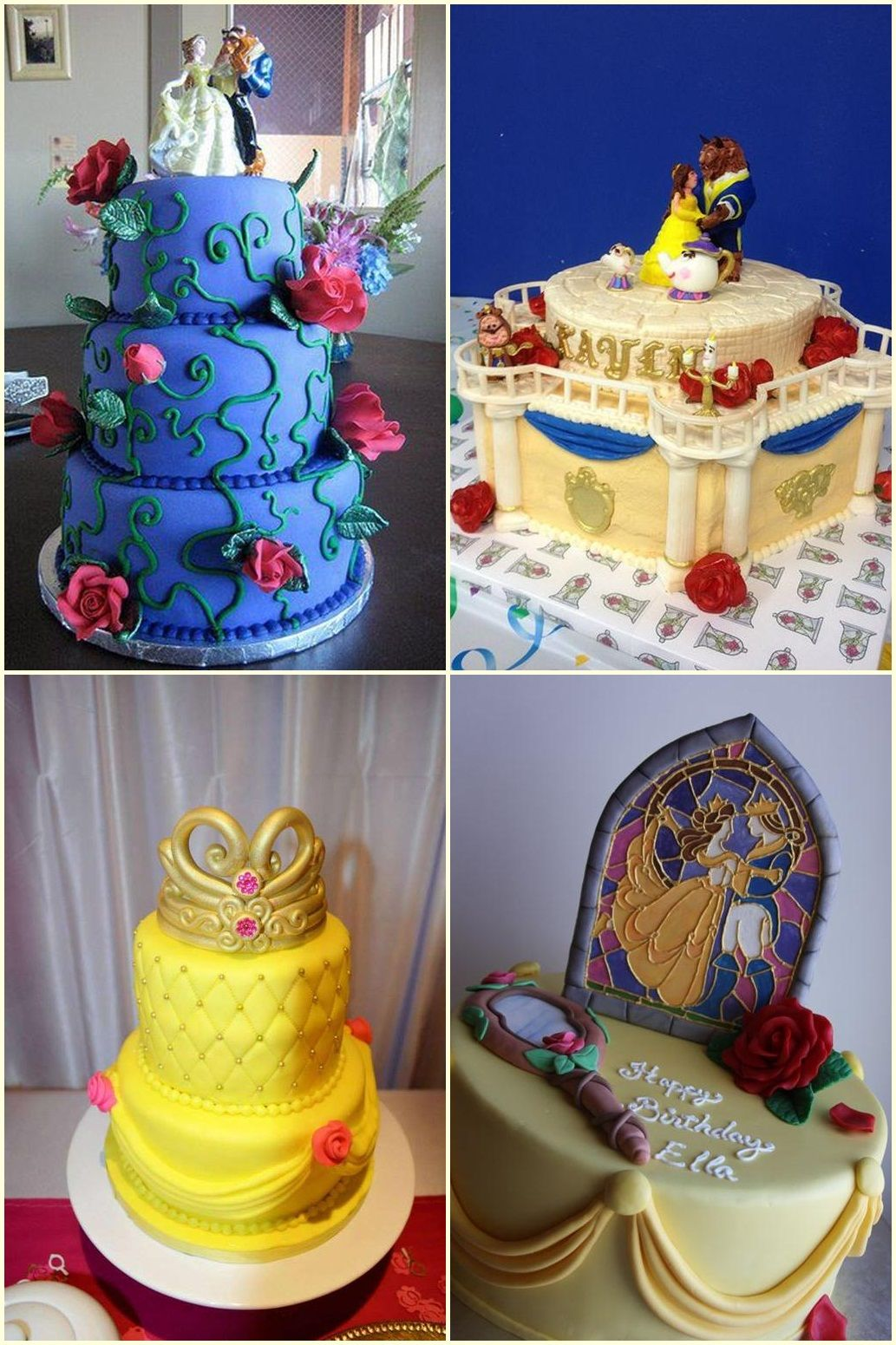 Beauty And The Beast Cakes Ideas With Images Beauty And The