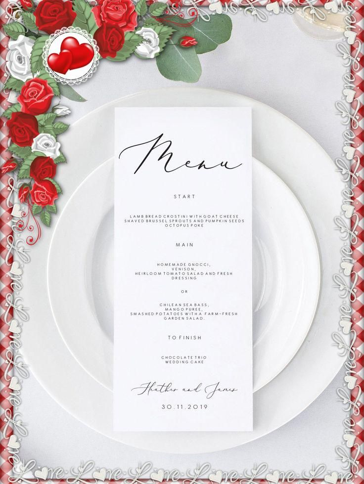 #weddingmenutemplate