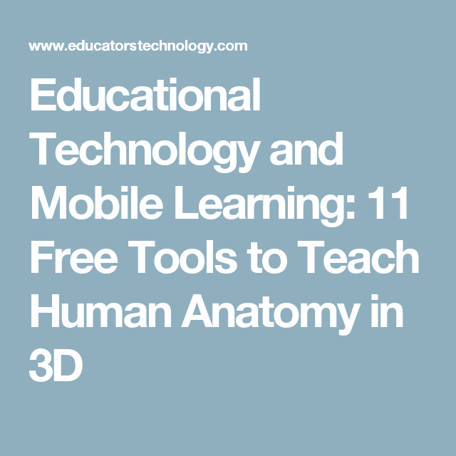 Educational Technology And Mobile Learning 11 Free Tools To Teach