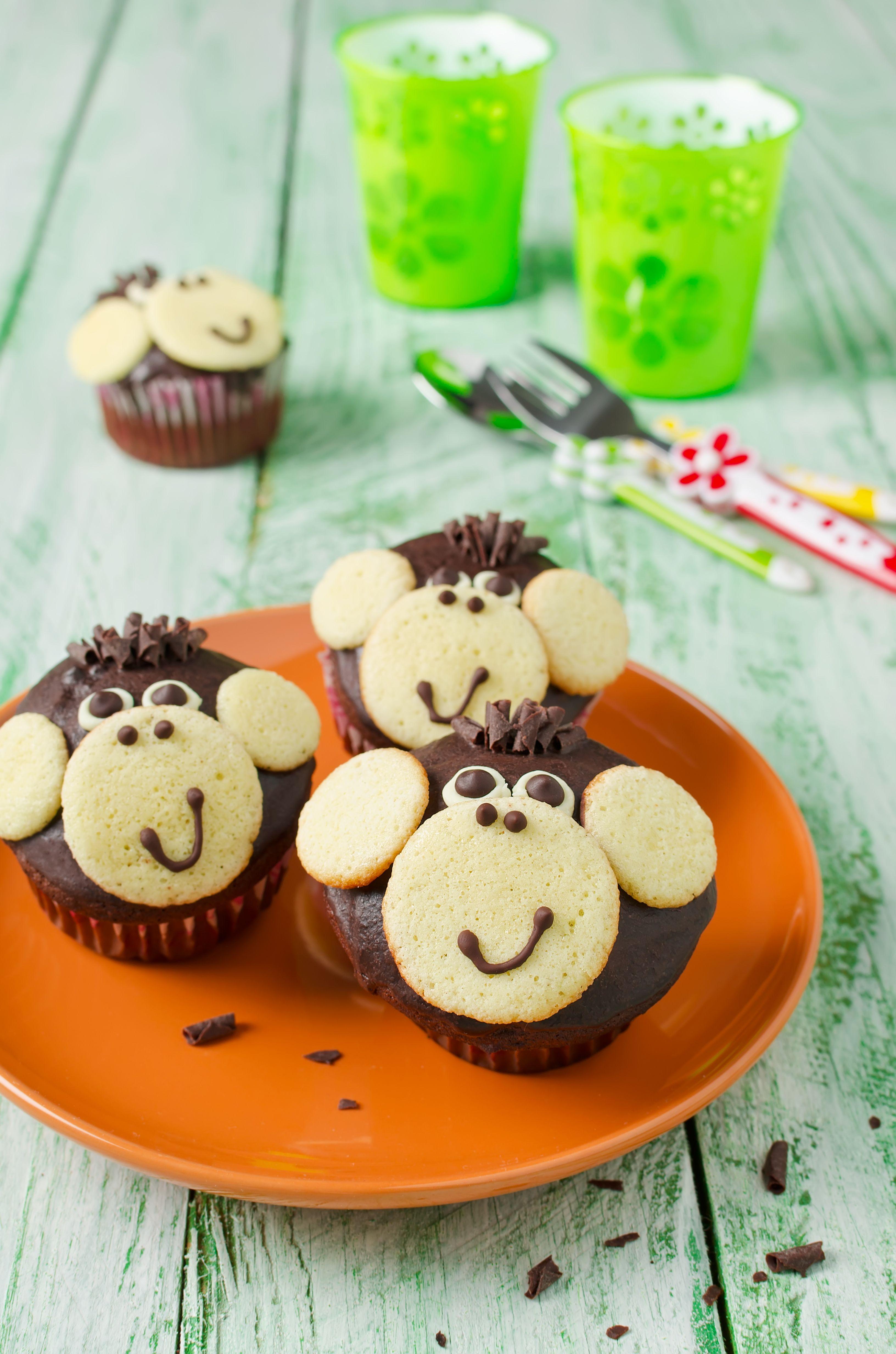 affen muffins abschied bekki pinterest affen muffins muffins und geburtstag torte. Black Bedroom Furniture Sets. Home Design Ideas