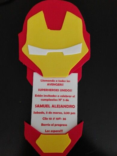 Invitacion Avengers Cumpleaños Ironman Cumpleaños Y Avengers