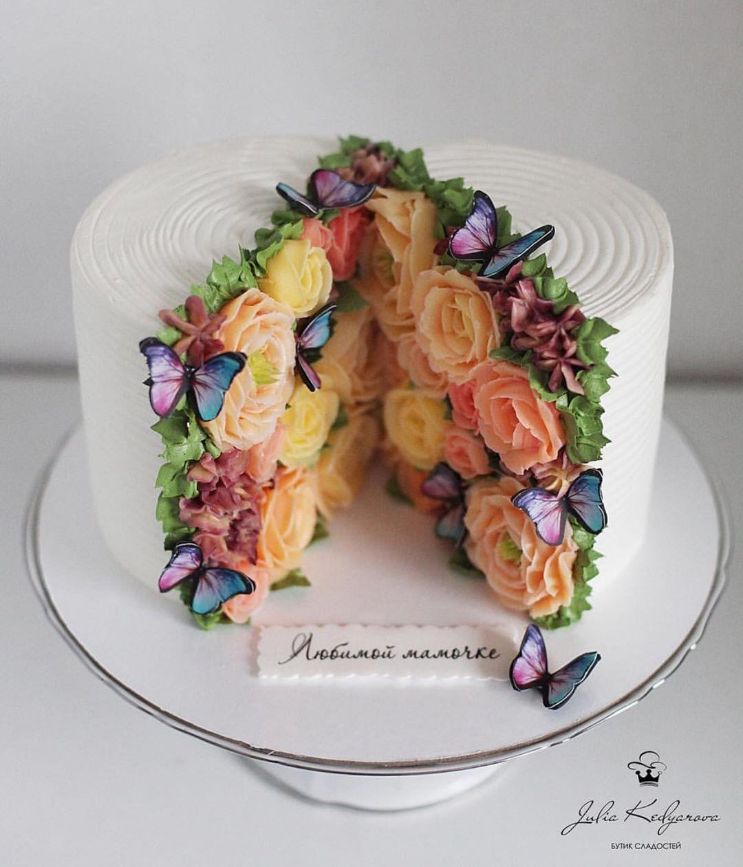 "Ice Cream Donuts Cakes on Instagram: ""Flowers always  Curated by @fooodyforever  Image by @yulia.kedyarova  #sweettoothforever"" #donutcake"