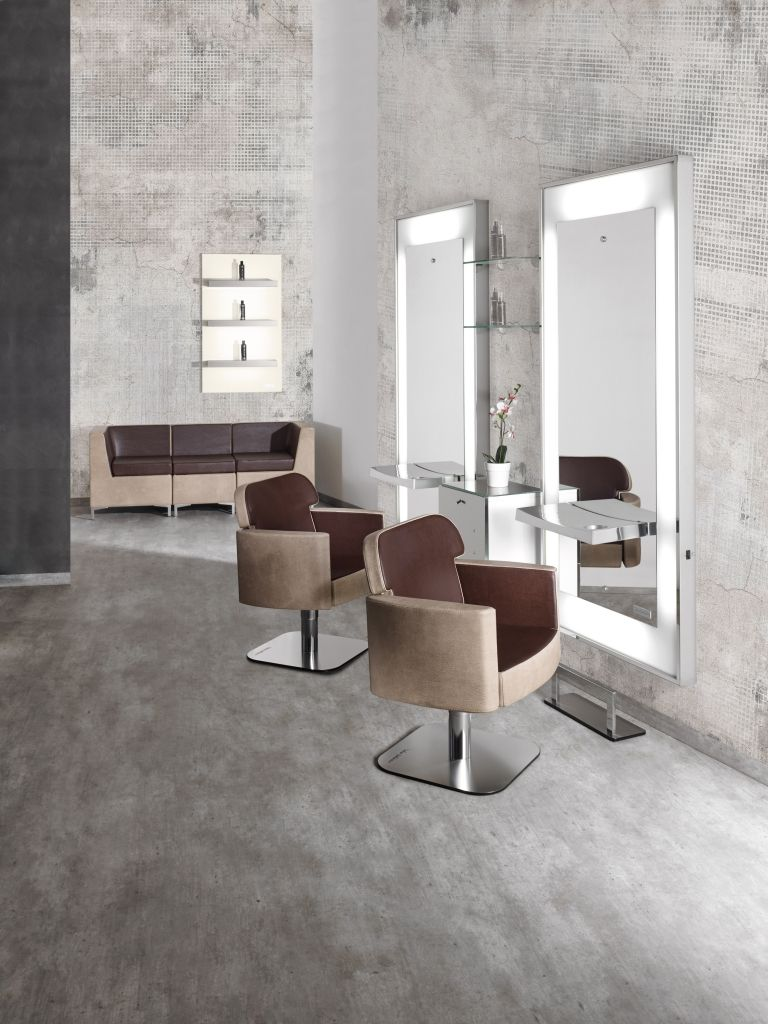 Dea line salon ambience hairdressing furniture made for Arredamento per parrucchieri