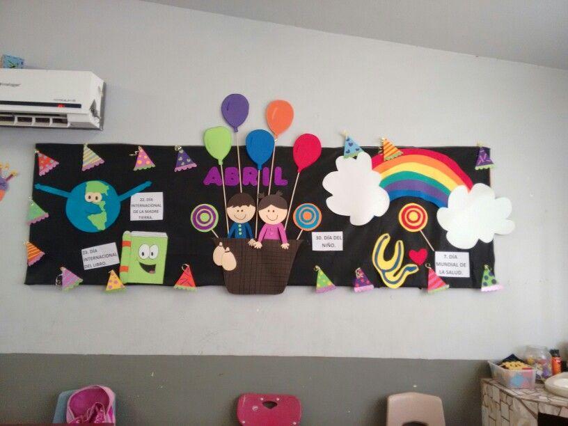 Periodico Mural Abril Ideas Para Carteleras Classroom Calendar
