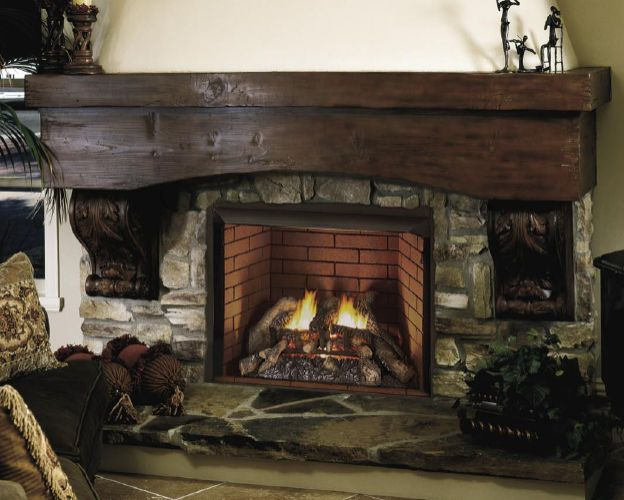 Traditional Fireplace Gas Open Hearth Vent Free Design Dynamics