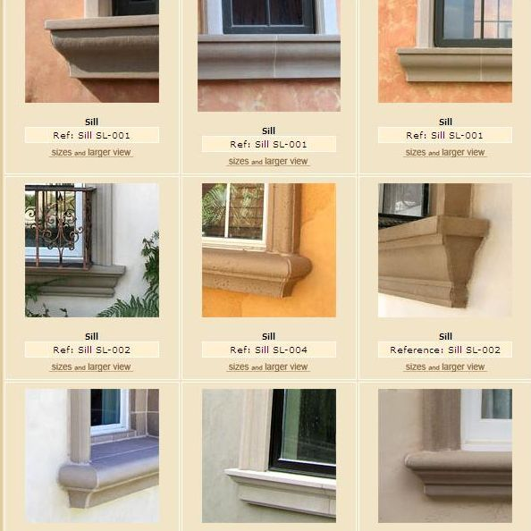 Exterior window frame window sill more pictures and spec for Exterior window trim design
