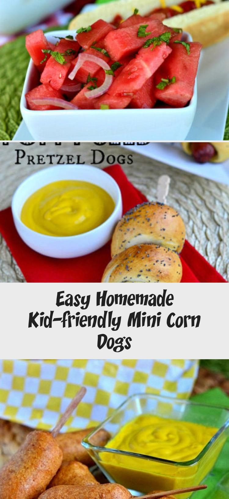 Easy homemade mini corn dogs are so easy to make and are