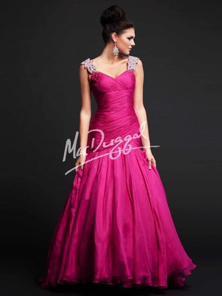 Magenta Pink Prom Dress | Mermaid Gown | Pageant Dress | Mac Duggal ...