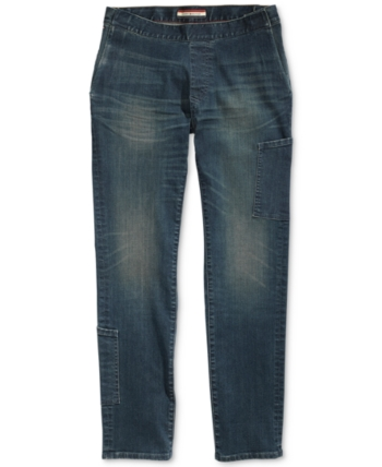 dcc09cf5 Tommy Hilfiger Adaptive Men's Slim Fit Jeans with Magnetic Fly - Blue 34W
