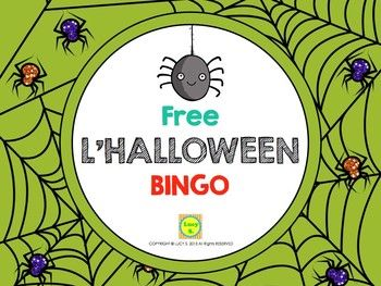 explore halloween bingo free french and more - Preschool Halloween Bingo