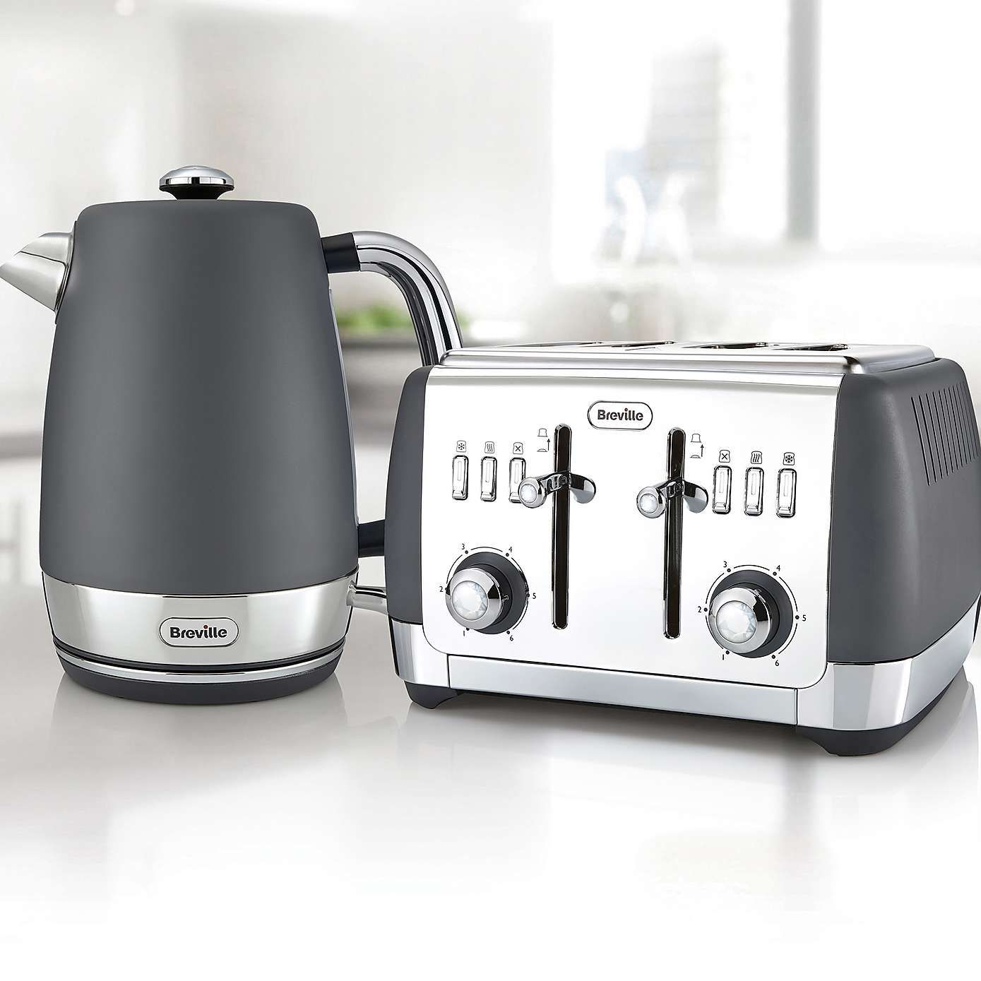 Breville Vkj994 Strata Collection 1 7l Grey Kettle Kettle And Toaster Set Kettle And Toaster Kettle