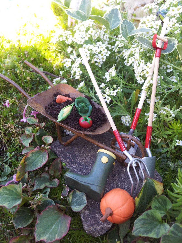 Fairy Garden Kit, Garden Vegetables, Wheel Barrow, Garden Tools, Pumpkins U0026