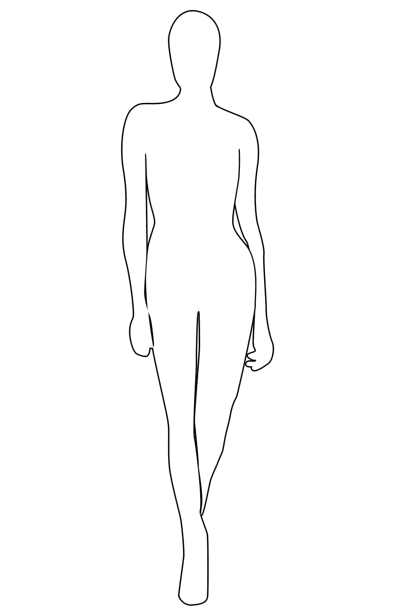 fashion model outline templates
