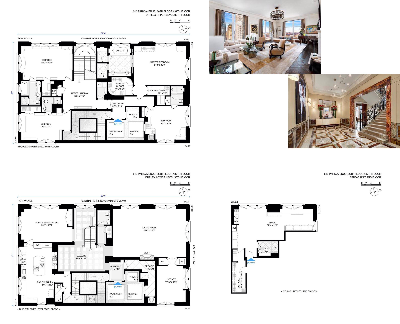 515 Park Avenue 515 Park Avenue 36 37 Manhattan Fwqozer Apartment Floor Plans New York Apartments City Living Apartment