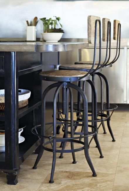 Captivating Products / Furniture / Chairs Dining / Stools / Benches Industrial Bar Stool  | Block And