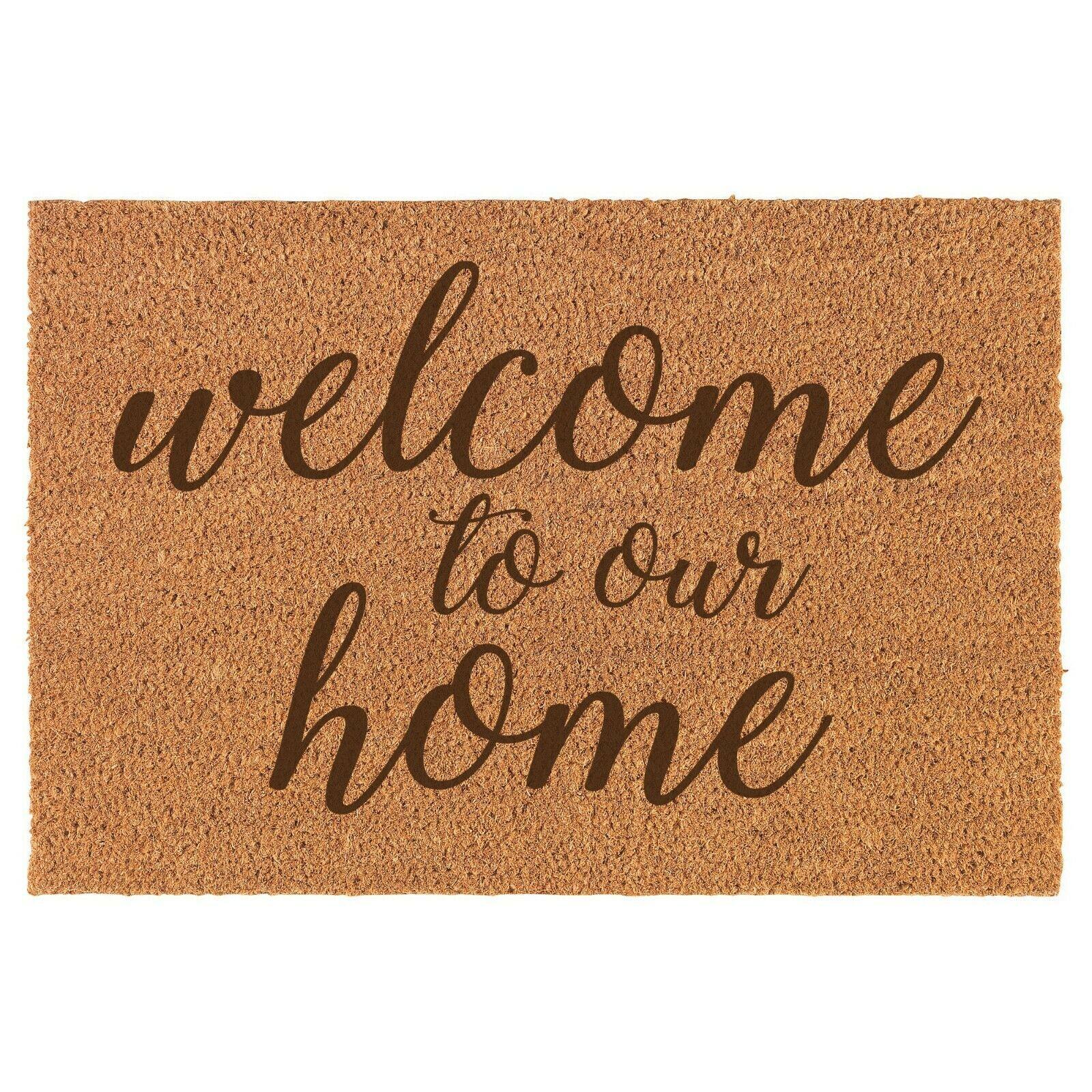 Details About Coir Door Mat Entry Doormat Welcome To Our Home In 2020 Coir Doormat Door Mat House Warming Gifts