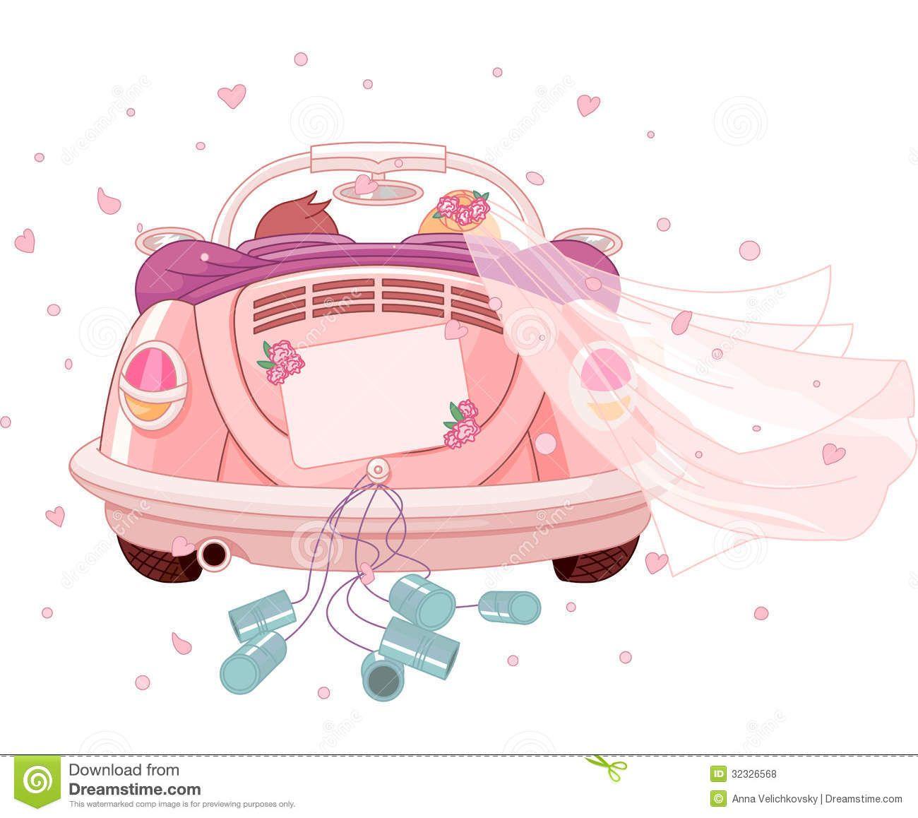 clipart wedding  Hochzeitsauto  Geschenk hochzeit