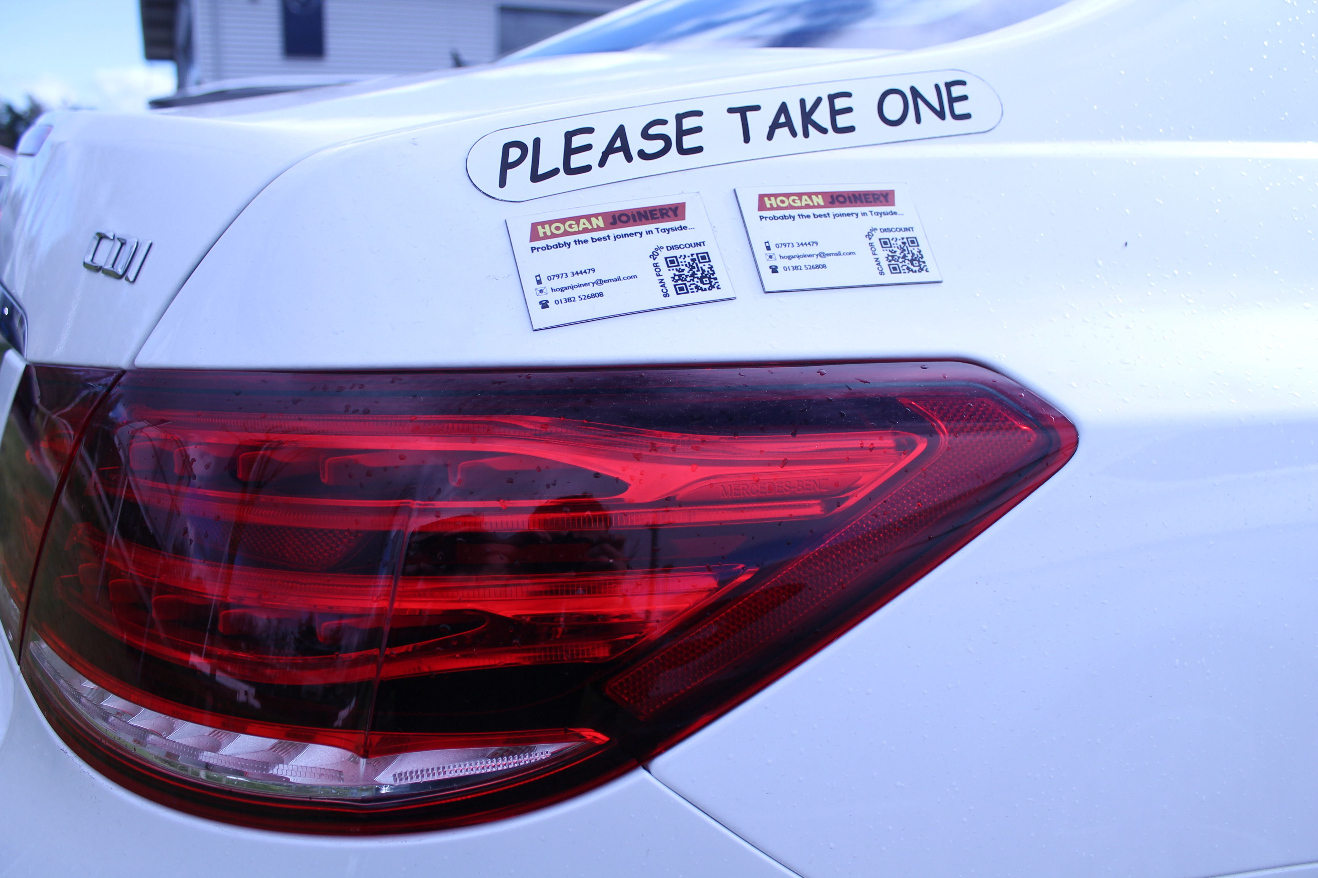 Advertise your business on your VW Polo with a Please Take e