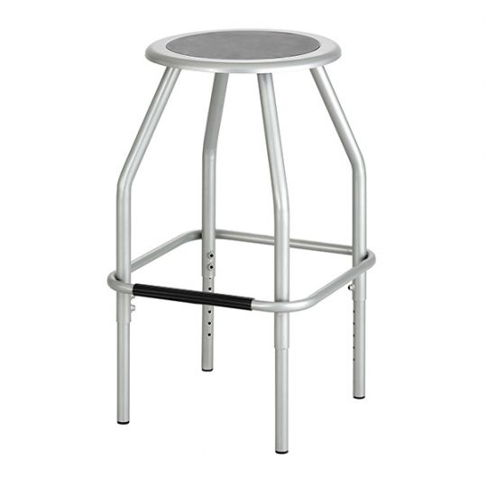 Fine Steel Height Adjustable Stool 23 30 Seat Height Andrewgaddart Wooden Chair Designs For Living Room Andrewgaddartcom