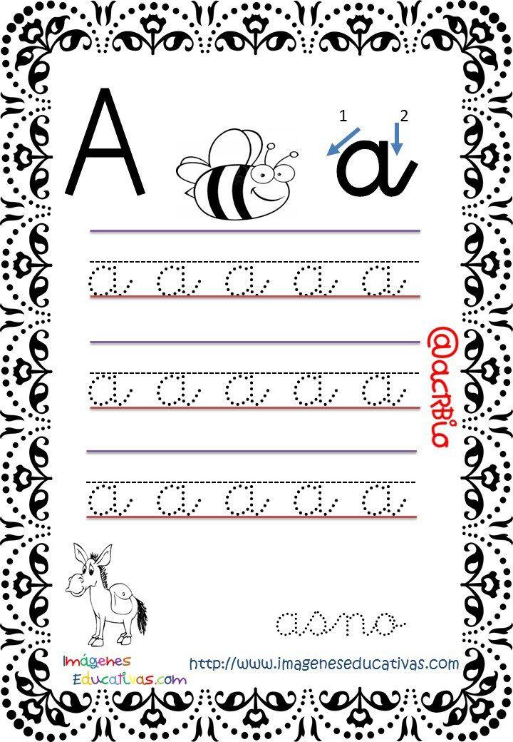 Cuaderno de trazos Imágenes Educativas letra escolar (1) | Hojas de ...