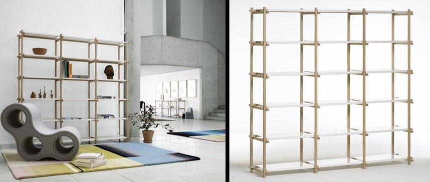 estantera para salones y dormitorios woody high de hay hay estanterias