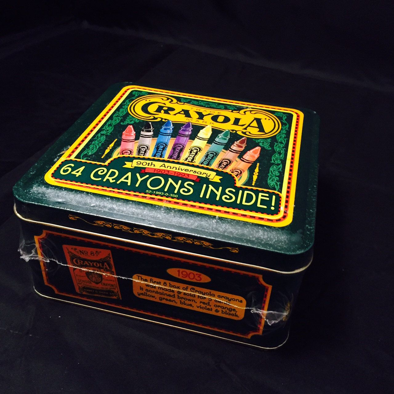 Crayola 90th anniversary 1993 64 count Crayons tin collectible Unopened Crayons by missenpieces on Etsy