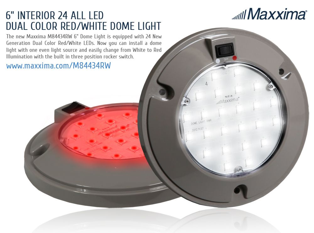 1 Dome Light 24 Leds 2 Light Colors Here S A Quick Look At Our Newest Dome Light That Has Dual Color Leds R Dome Lighting Red And White Interior Lighting