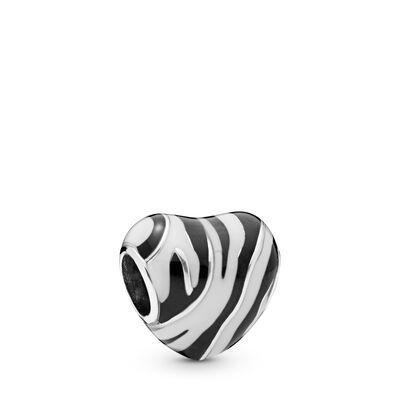 pandora charm bianco e nero