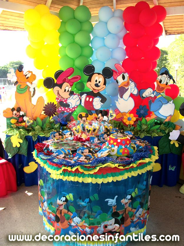 Mickey Mouses Parties Decor LOVE BALLOON BACKGROUND