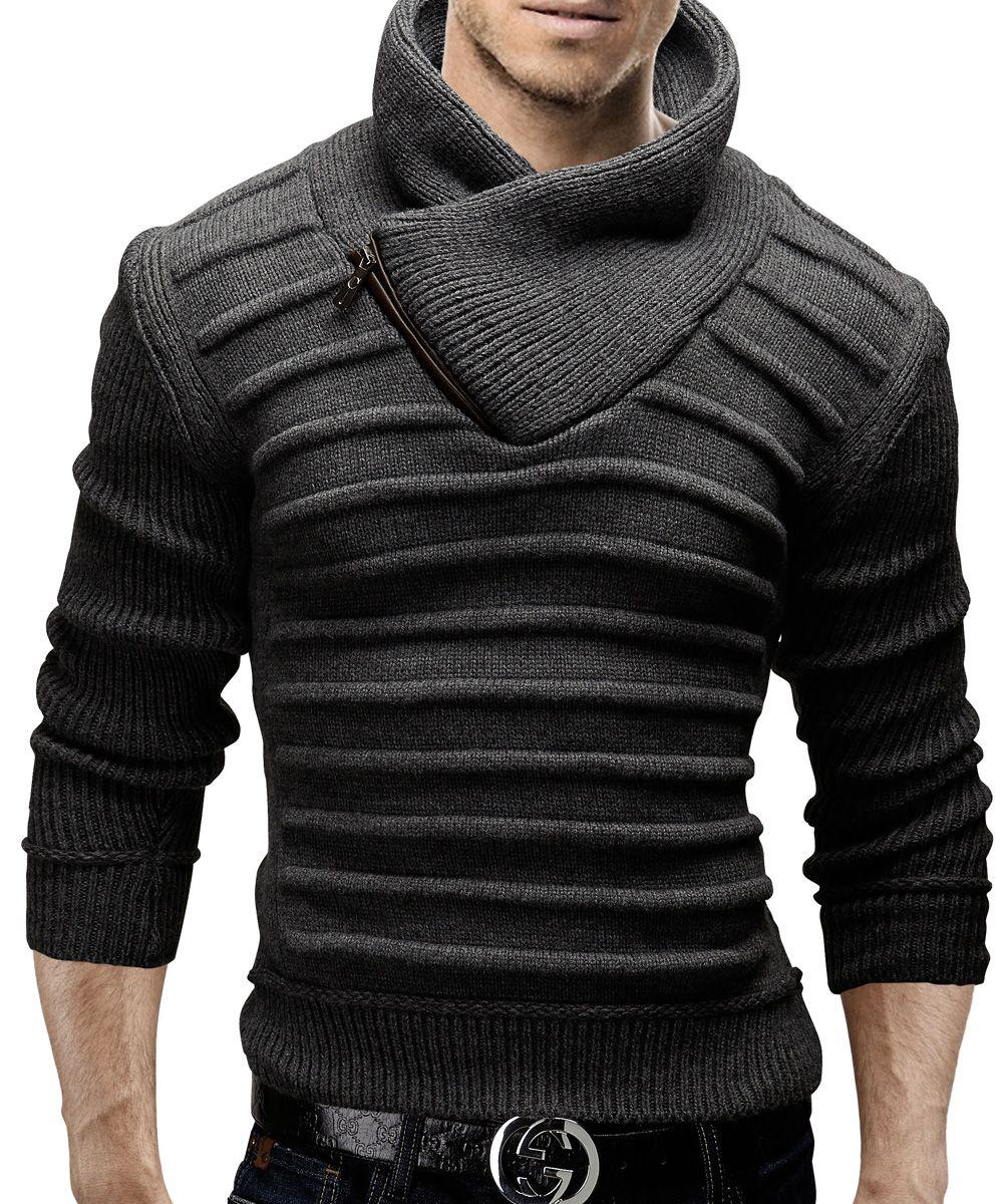 FIND Jersey de Punto con Capucha para Hombre
