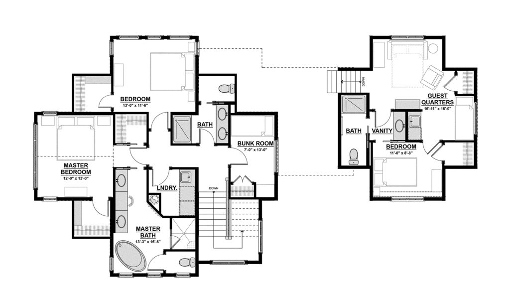 Traditional Style House Plan 4 Beds 3 5 Baths 3472 Sq Ft Plan 928 11 House Plans Craftsman Floor Plans Floor Plan Design