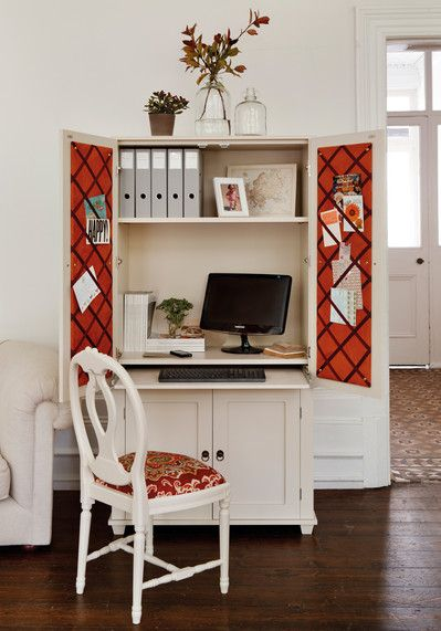 hide away office. Want To Hide Away A Home Office In Your Living Room? This Unit Is Big