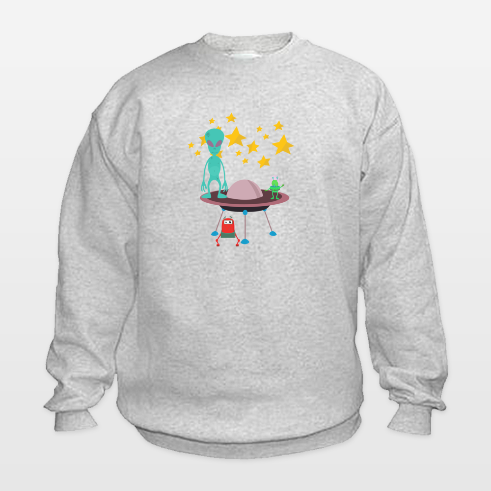 Shop for unique nursery art like the aliens Kids Sweatshirt by haroulita on BoomBoomPrints today!  Customize colors, style and design to make the artwork in your baby's room their own!