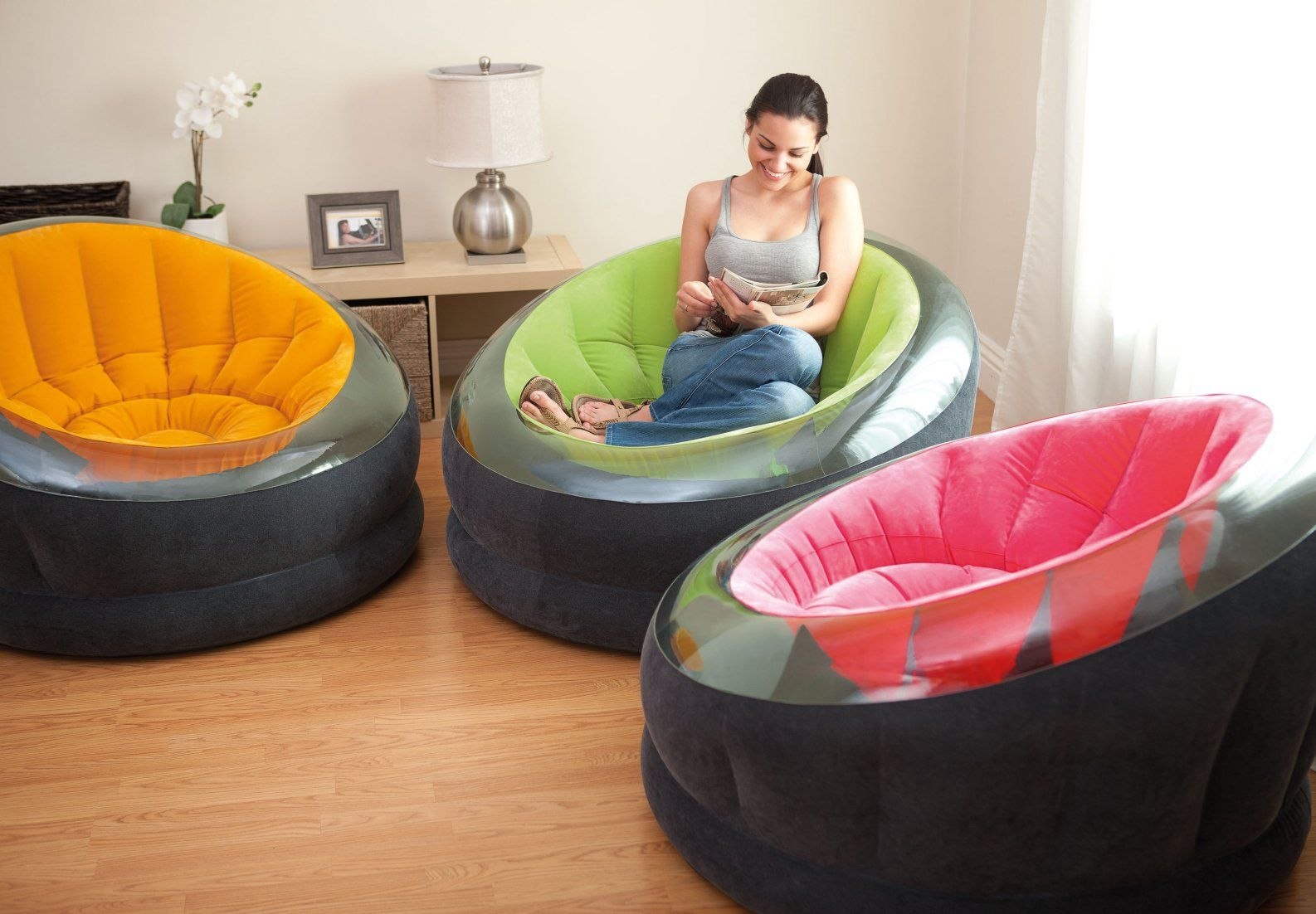 Big Inflatable Couch Empire Chair Chairs Air Furniture Store Intex For