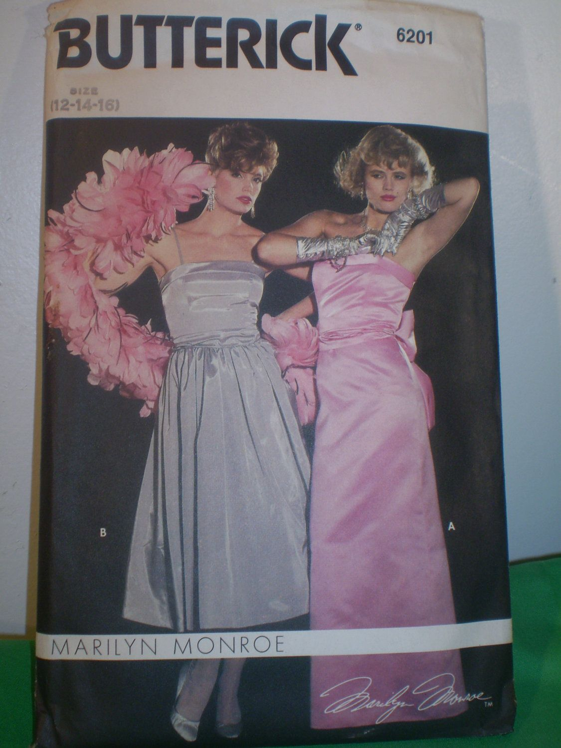Butterick 6201; ca. early to mid 1980s; Marilyn Monroe Dress.