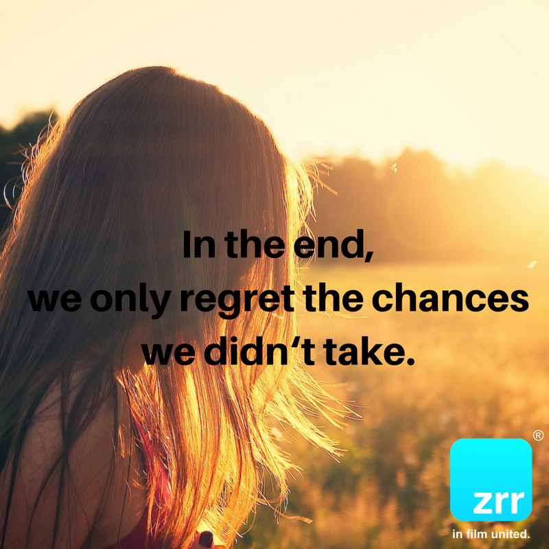 In the end, we only regret the chances we didn't take. #todaysquote #inspiration #motivation #zipstrr #trendsettrr #madeinberlin #fromhollywood #infilmunited #youonlyziponce #doitberlinstyle #notchicbutsexy